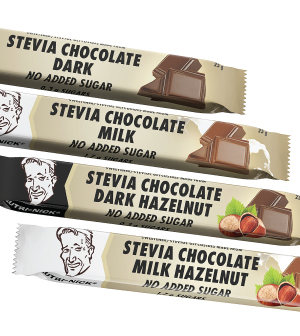 Stevia Dark Chocolate with Hazelnuts, 25 g